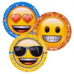 Plato Emoji x 6  Cotillón Emoji