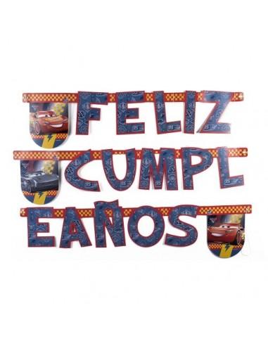 Guirnalda Feliz Cumpleaños Cars  Cotillón Cars