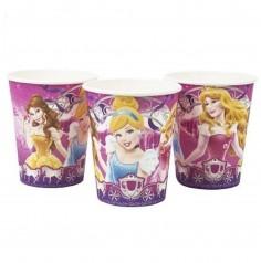 Vaso Princesas Disney x 6  Cotillón Princesas de Disney