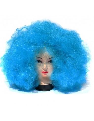 Peluca Afro Azul Gigante  Pelucas