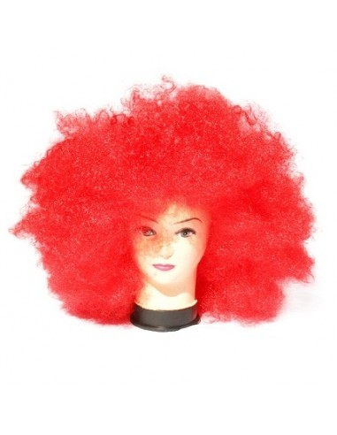 Peluca Afro Roja Gigante  Pelucas