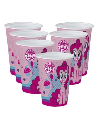 Vaso My Little Pony x 6  Cotillón My Little Pony