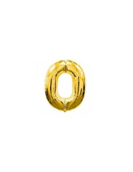 Globo Metálico 70 cm Números Dorado  Globos Metálicos