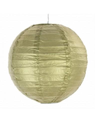 Pantalla Decoración 20 cms Dorado y Plateado  Guirnaldas y Colgantes