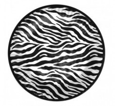 Platos Animal Print Fucsia y Negro x 6  Línea Animal Print