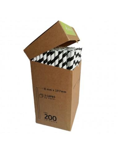 Bombilla Ecológica Papel x 200 Colores  Línea Ecológica