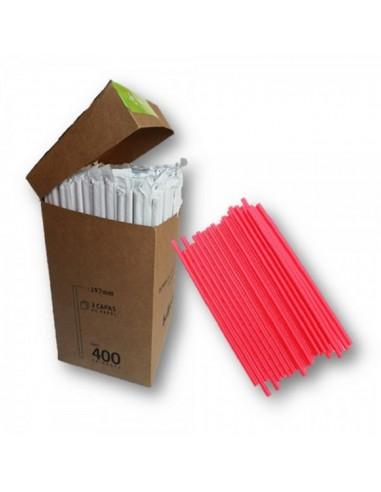 Bombilla Ecológica Envueltas En Papel x 400 Colores  Línea Ecológica