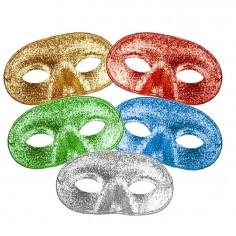Antifaz Redondo Purpurina  Antifaces y Máscaras