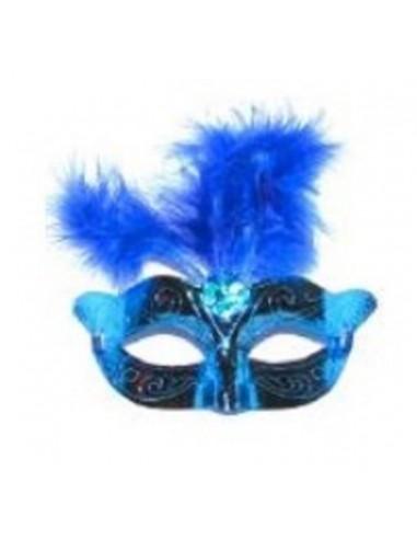 Antifaz Metálico Pluma  Antifaces y Máscaras