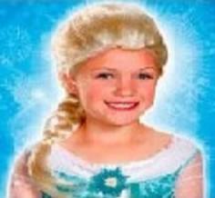 Peluca Princesa Frozen  Pelucas