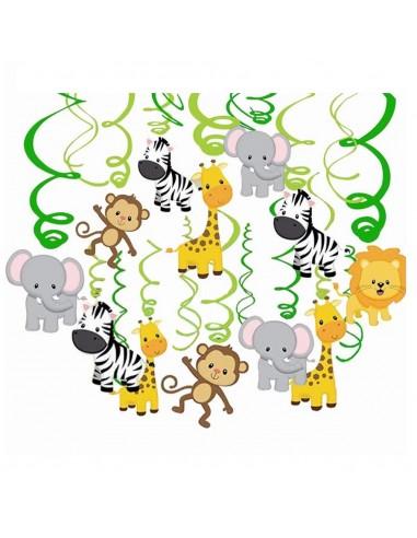 Decoración Espirales Animalitos  Cotillón Animalitos