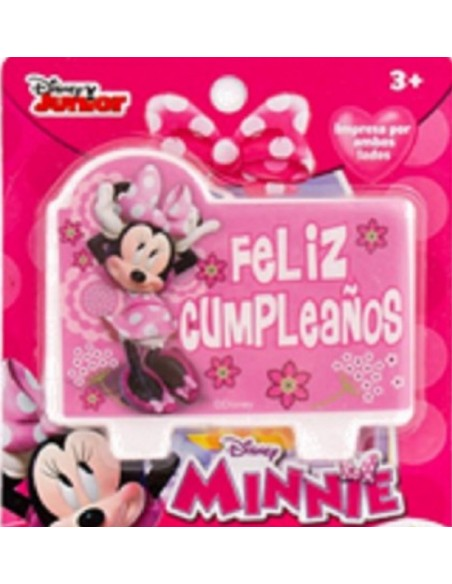 Vela Minnie Mouse  Cotillón Minnie Mouse