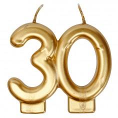 Vela Dorado 30 Años  Velas