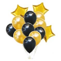 Set Globos Estrella Dorado  Cotillón Día de la Mamá y Enamorados