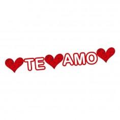 Guirnalda Letras Te Amo  Cotillón Día de la Mamá y Enamorados