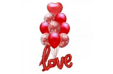 Set 12 Globos Love  Cotillón Día de la Mamá y Enamorados