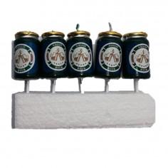Vela Cerveza Lata x 5  Velas