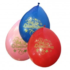 Globo Feliz Cumpleaños x 10  Globos Diseños