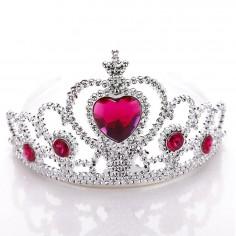 Corona Corazón Rosado  Líneas Cumpleaños