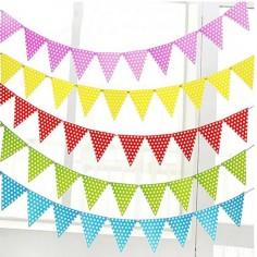 Banderín Lunares Colores  Guirnaldas y Colgantes