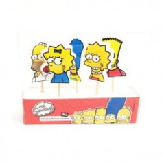 Vela Los Simpsons Picks x 5  Velas