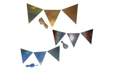 Guirnalda Banderines Holográfica Metalizada  Guirnaldas y Colgantes