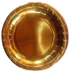 Plato Metalizado x 6 Dorado  Línea Metalizado