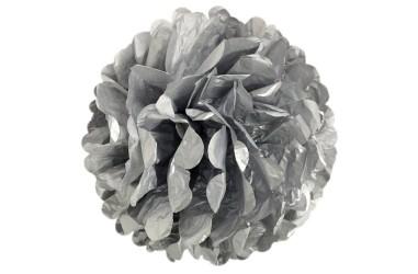 Pompón Papel Metalizado 35 cms Cotillón Activarte Guirnaldas y Colgantes