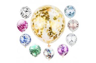 Globo Relleno Confetti Colores x 12  Globos Diseños