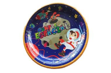 Plato Cumpleaños Espacial  Cotillón Espacial