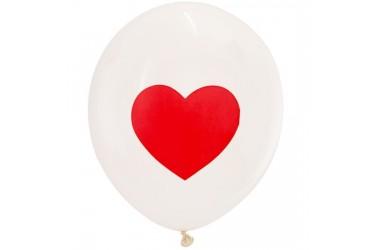 Globo Impreso Corazón x 25  Cotillón Día de los Enamorados