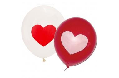 Globo Impreso Corazón  Cotillón Día de la Mamá y Enamorados