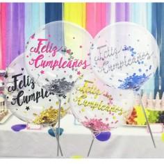 Globo Burbuja Feliz Cumpleaños  Globos Diseños
