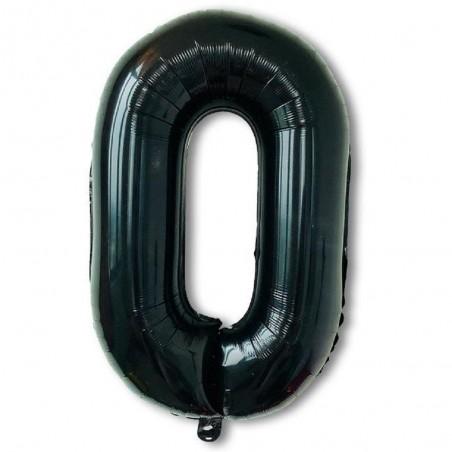 Globo Metálico Negro Números 80 cms Cotillón Activarte Globos Metálicos
