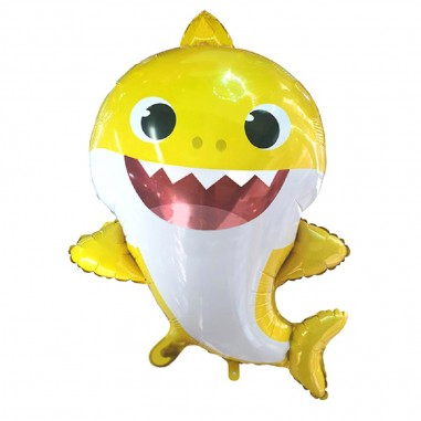 Globo Metálico Baby Shark  Cotillón Baby Shark