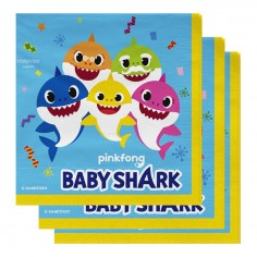 Servilletas Cumpleaños Baby Shark x 12 Cotillón Activarte Cotillón Baby Shark