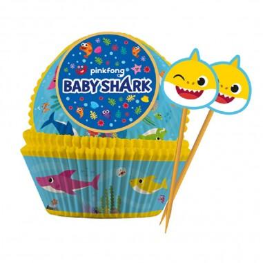 Capsulas Baby Shark x 6 Cotillón Activarte Cotillón Baby Shark