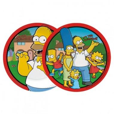 Plato Cumpleaños Simpsons x 6  Cotillón Simpsons