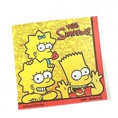 Servilletas Cumpleaños Simpsons x 12  Cotillón Simpsons