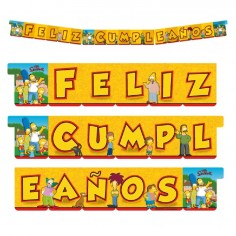 Guirnalda Feliz Cumpleaños Los Simpsons  Cotillón Simpsons