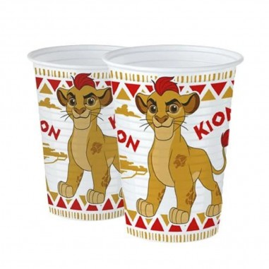Vasos la Guardia del León x 6  Cotillón Animalitos