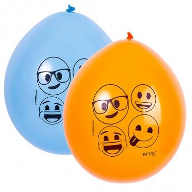 Globo Emoji Colores x 12  Cotillón Emoji