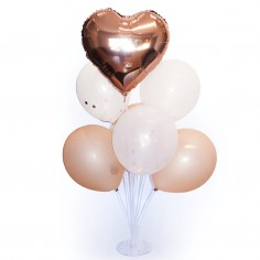 Set 7 Globos con Base Rose Gold  Globos Lisos
