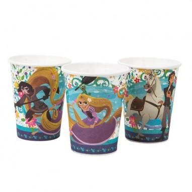 Vasos Rapunzel x 6  Cotillón Rapunzel