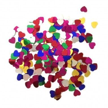Confetti Metalico Corazón  Decoración Cumpleaños y Fiestas