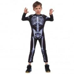 Disfraz Esqueleto Niño Talla 7-8 Cotillón Activarte Disfraces Niñas y Niños