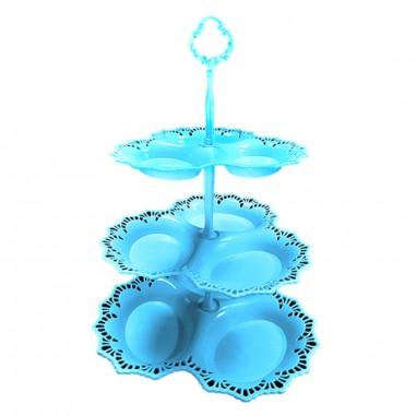 Bandeja Cupcakes 3 posillos 3 niveles  Línea Colores