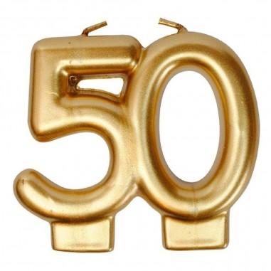 Vela Dorada 50 Años  Velas