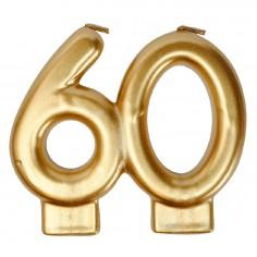 Vela Dorada 60 Años  Velas