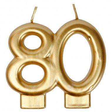 Vela Dorada 80 Años  Velas